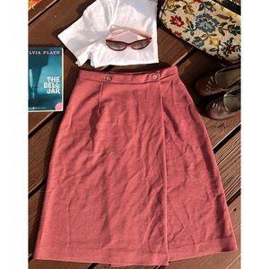 Vintage 70's Mauve Wrap Skirt Size 26